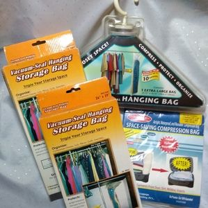Assorted space saving bags
